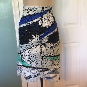 Bar III lace pencil skirt